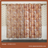 Hotel project 100% polyester contemporary curtains Colored lace curtain marching