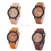 Good bamboo wood watch 2017 latest popular bamboo quartz watch