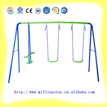 DG Million Star 3 station swing LS-SW31052 cheap high quality outdoor kids metal swing for wholesale