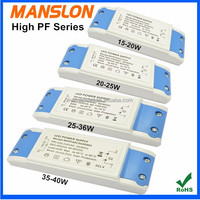 High PF waterproof IP66 35W 40W 50W LED flood light driver constant current 700mA 900mA 1000mA