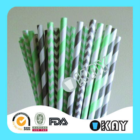 High Quality Party Theme Valentine's Day Paper Straws