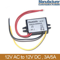 12v AC to 12v DC converter, 3A/5A, Manufacturer, Customization available