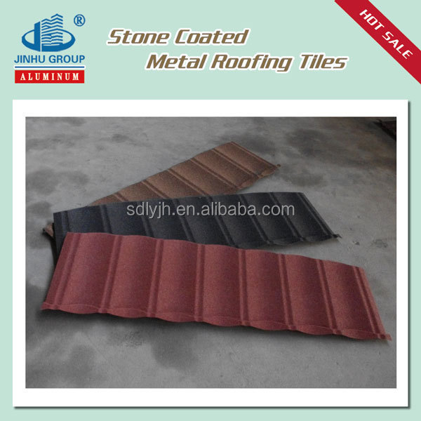 Stone granules coated overglaze steel roofing tiles