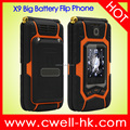 Dual SIM Card Flip Style Dual Screen Mobile Phone Rover X9 flip phone feature phone