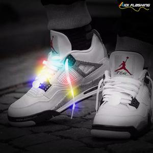 ca3a8ec7b575 Flashing LED Shoe Laces with 10 LED Lamp Beads Fashion Safety Light-Sports  Reflective Shoelaces