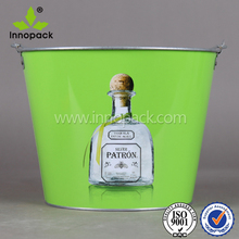 Top quality green round food grade metal barrel for wine packaging