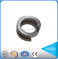 High strength carbon steel double coil spring washer