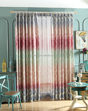 2017 Hot elegant american designs printed window curtains