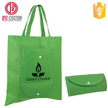 Foldable non woven shopping bag with zip pocket Reusable shopping bags