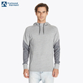 muscel men two tone color sleeves plain blank hoodie with pockets