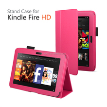 2017 New Wholesale Protective Flip Holder stand Case Cover Leather case for Amazon Kindle Fire HD 7'