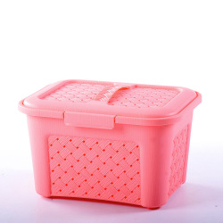 Special offer cheap pink plastic picnic basket