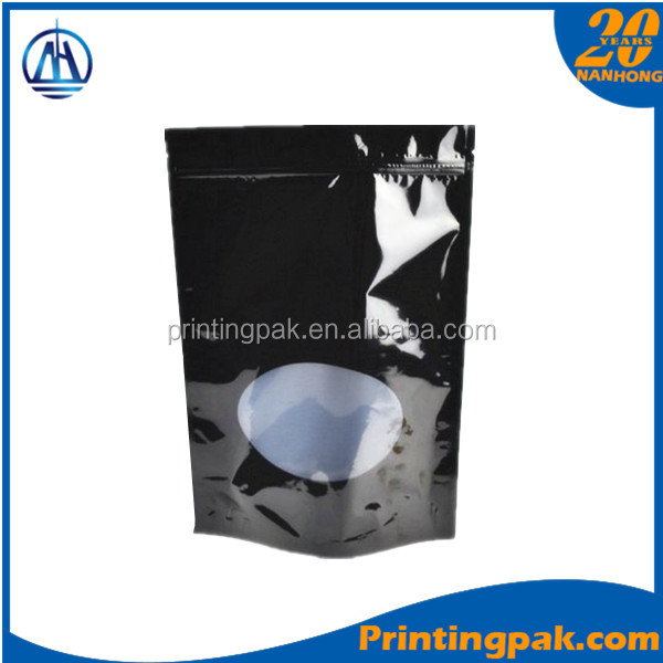 stand up aluminum foil printed zip food packaging packets