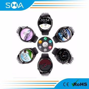 MTK 6580 solution wifi smart watch dual sim card watch phone