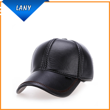 wholesale leather bill baseball cap ear flap fishing hat
