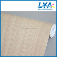 pvc wood grain film with environment removable glue for home, office, hotel decoration