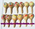 Las Maracas Handcarved Wooden Marracas Music Instrument Party Crafts Wood Musical Wholesale Ecuador