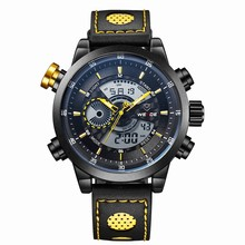 WEIDE WH3401 Yellow Smart Disign Digital Vigorous Wrist Watch for Men Best Selling in Alibaba Express