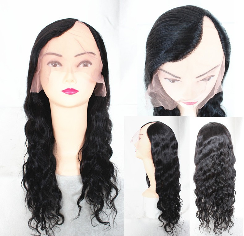 Premier Hair Best Quality 16inch Natural Wave Left Part Indian Remy Human Hair Cheap <strong>U</strong> Part Wigs For Black Women