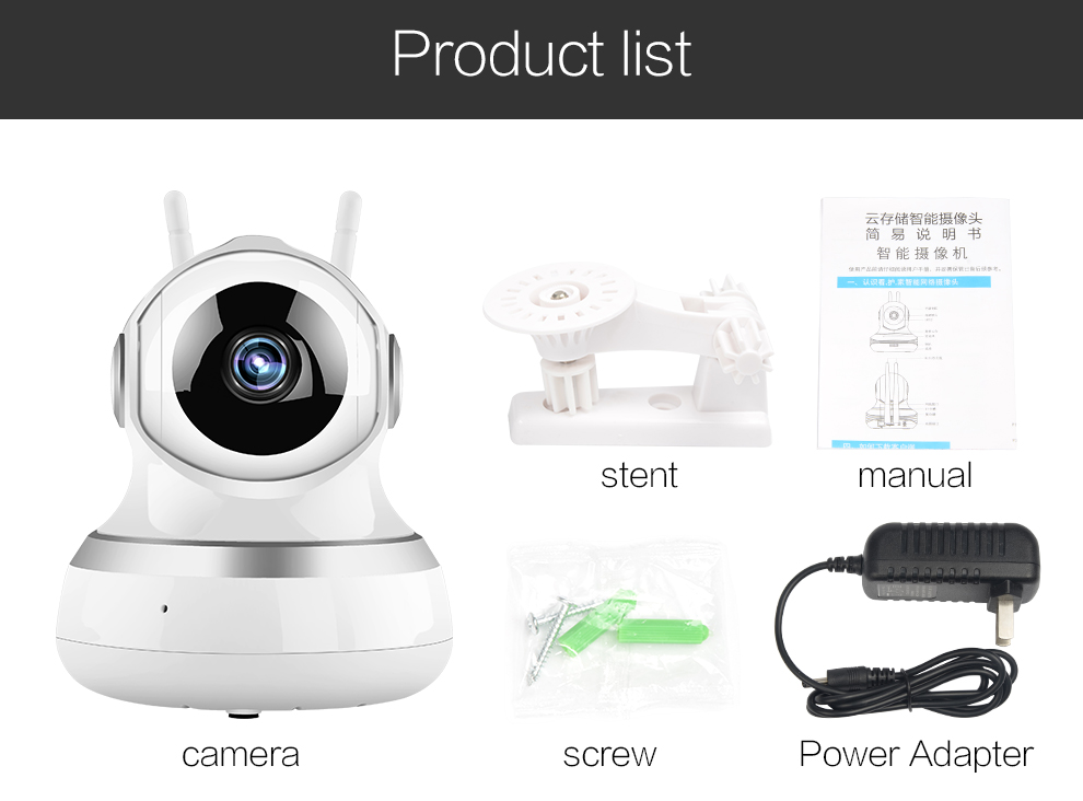 VR Home Security WiFi IP  camera CCTV camera For  Protection security baby monitor