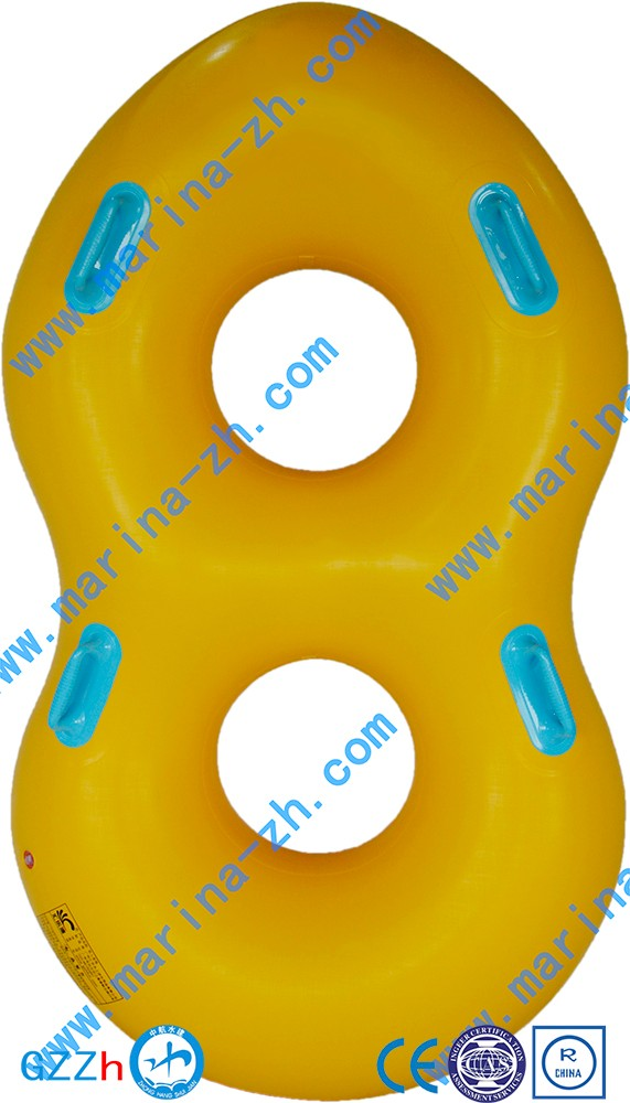 foldable inflatable plastic cartoon duck swimming ring inflatable for pool swimming