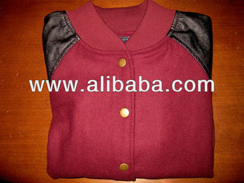 Genuine wool varsity jackets