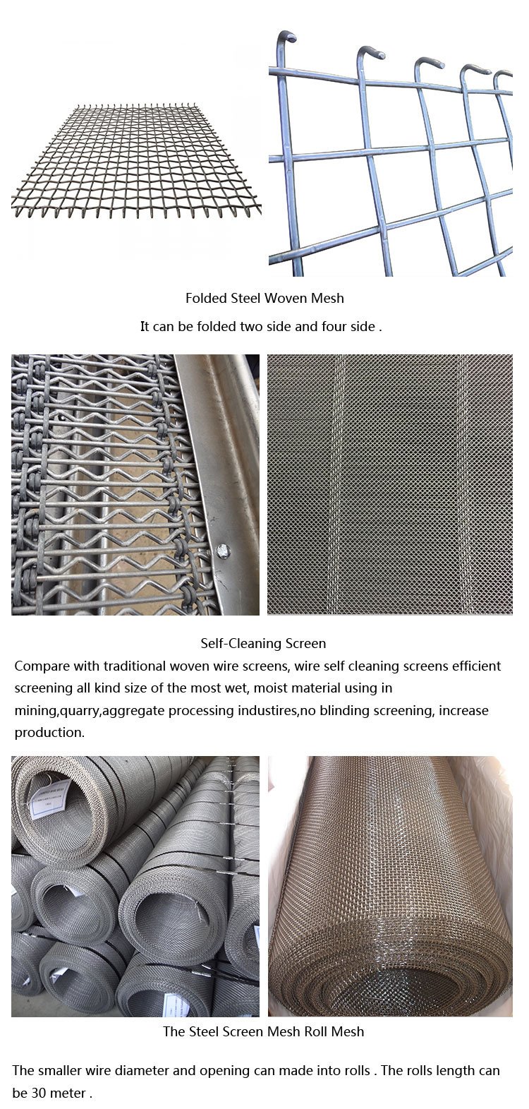 2017 hot woven crimped wire screen mesh coal mine supporting mesh