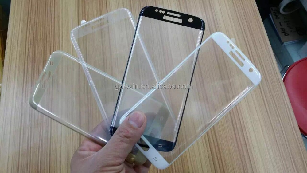 2016 hot selling full cover good quality 0.2mm tempered glass for S7 edge