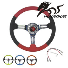 14inch 350mm Stormcar Sports Leather Deep Corn Drifting Dish Racing Steering Wheel
