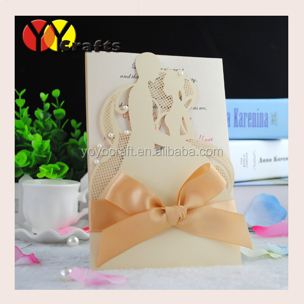 2016 latest wedding card romantic couple royal wedding card design