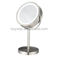 Trade assurance venetian metal 10x compact mirror led