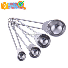 High quality 4PCS 1.25ml 2.5ml 5ml 15ml stainless steel measuring spoon