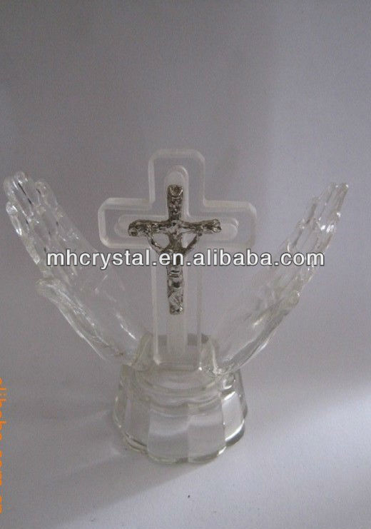 Crystal Jesus Cross in Hand MH-G0276