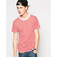 men red white striped t-shirts
