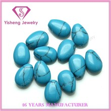 Loose teardrop shape stone artificial turquoise for jewelry making