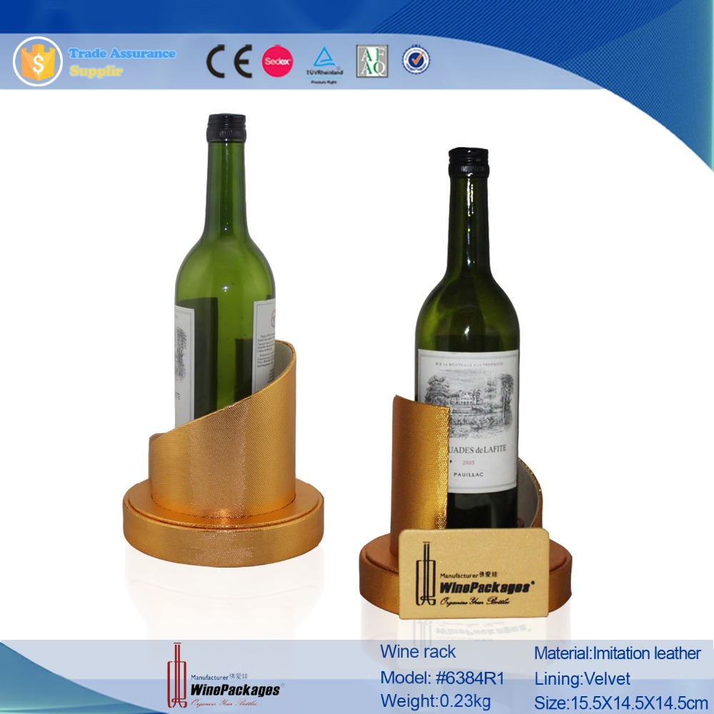wholesale leather single wine bottle holder