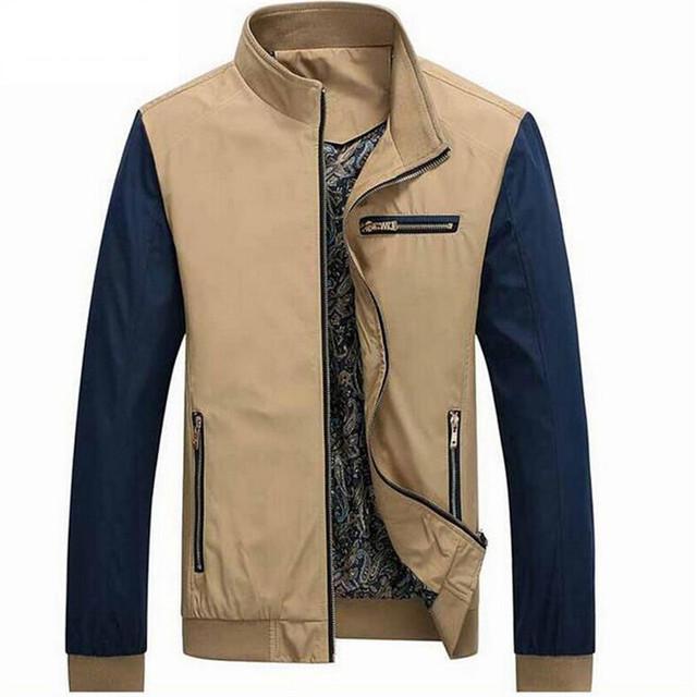 Thin Section Men's jackets Leisure JacketsMen xxxxl Zipper Men's Jacket Spring Autumn Fashion Overcoat Big Size Men Clothing 5xL