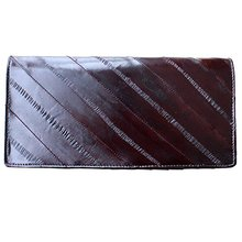 Vintage long style genuine cowhide leather wallets leather men
