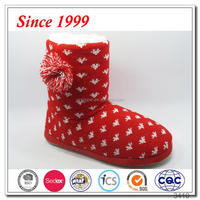 Wholesale 2015 fasion indoor knit winter snow boot