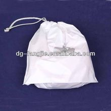 Custom small calico drawstring bags with logo