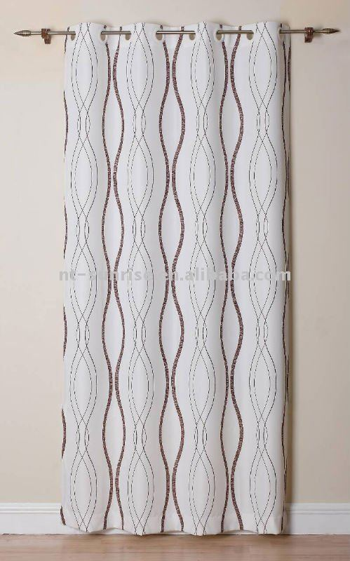 Bright Jackquard& Embroidery Door Curtain