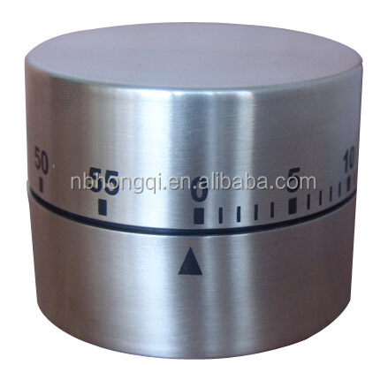 60 minutes Mechanism Metal Stainless steel Kitchen Timer