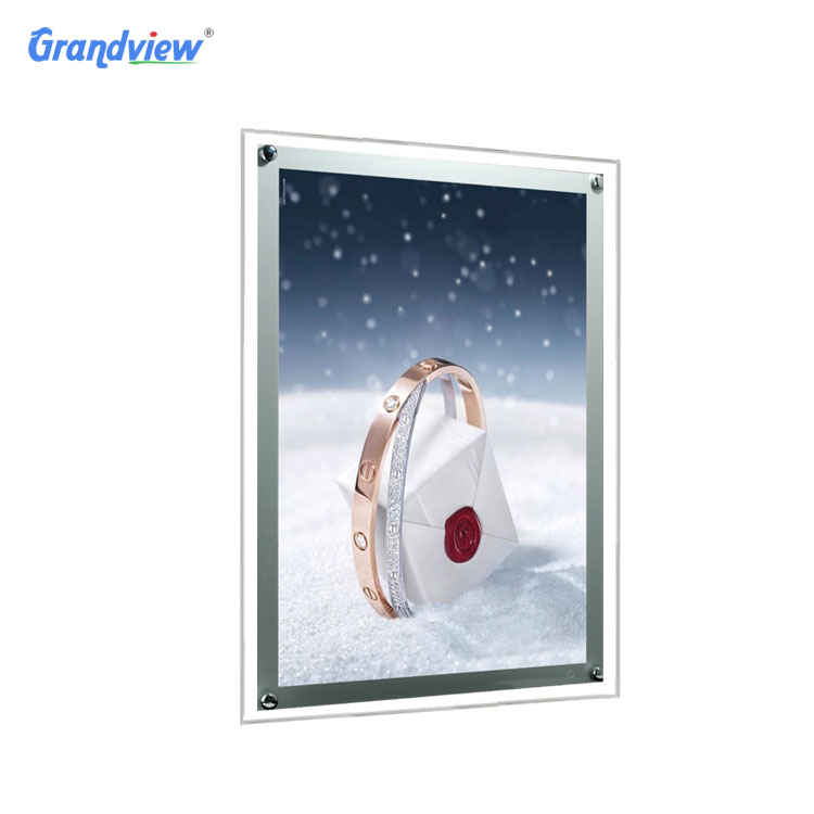 LED backlit acrylic poster display crystal light box for <strong>advertising</strong>