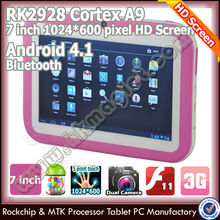 Top-selling low price 7 inch dual core ultra digital tablet for child