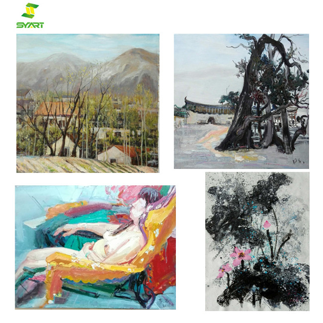 Hot selling modern art abstract Girls & landscape oil paintings on canvas for home decor