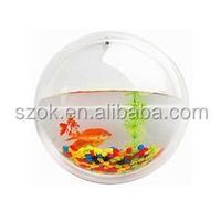 High quality new design round acrylic wall mounted fish tank aquariums
