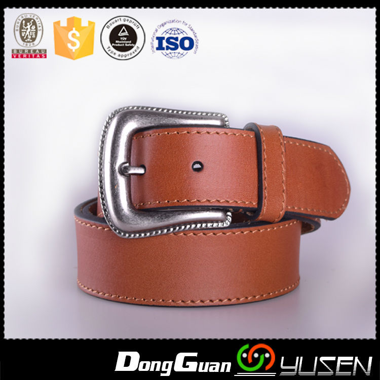 Vintage Buckle Men's Genuine Soft Vegetable Leather Belt