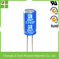 Air conditioner capacitor,Long life,high powe density 2.7v 7f super capacitor on sale