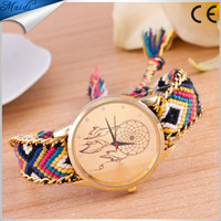 China Cheaper 2016 Women Dreamcatcher Friendship Bracelet Watch Ladies Fashion Colorful Braid Dressing Watches GW074