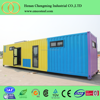 Fast assembly 20ft /40ft living container house prices prefab shipping container homes for sale used
